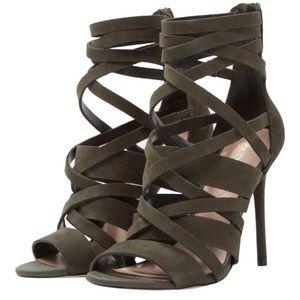 Aldo green Kelany strappy heels